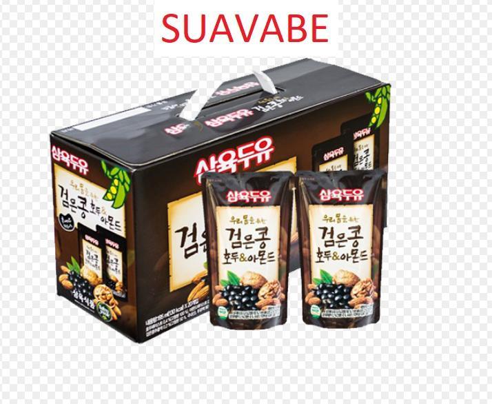 Sữa đậu đen óc chó hạnh nhân Hàn Quốc (20 bịch)