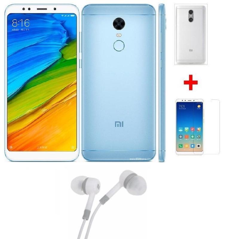Xiaomi Redmi 5 Plus 64G Ram 4G (Xanh) + Ốp lưng + Cường lực + Tai nghe - Hàng nhập khẩu