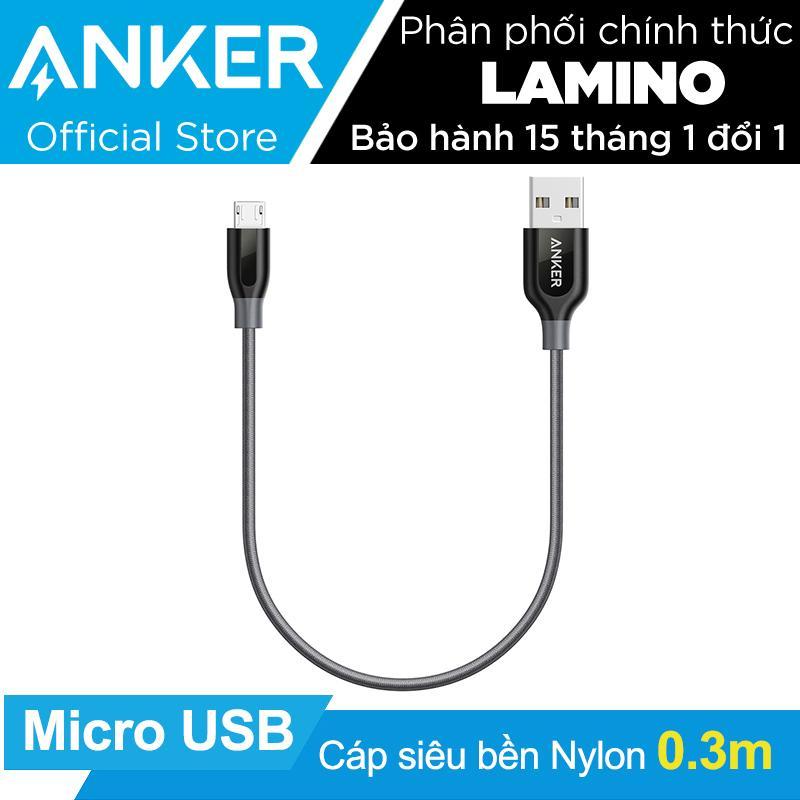 Ôn Tập Cáp Sieu Bèn Nylon Anker Powerline Micro Usb Dai 3M Xám Hang Phan Phối Chinh Thức Mới Nhất