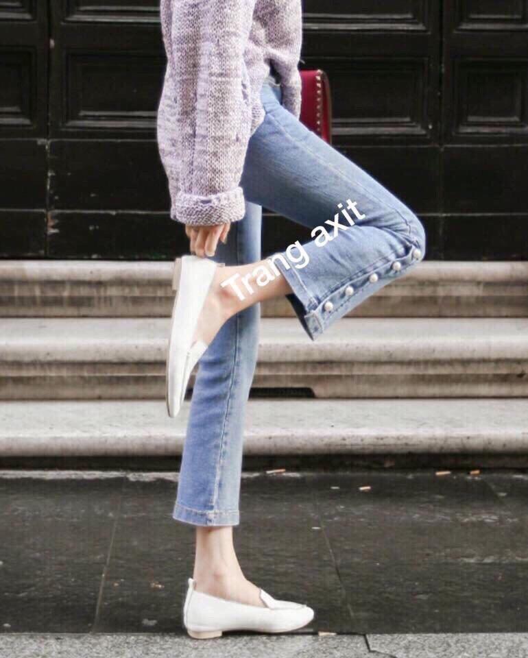 Quần Jeans Nữ 9 Tấc Ống Loe Cao Cấp Kết Nut Đẹp Store 257 Việt Nam Chiết Khấu