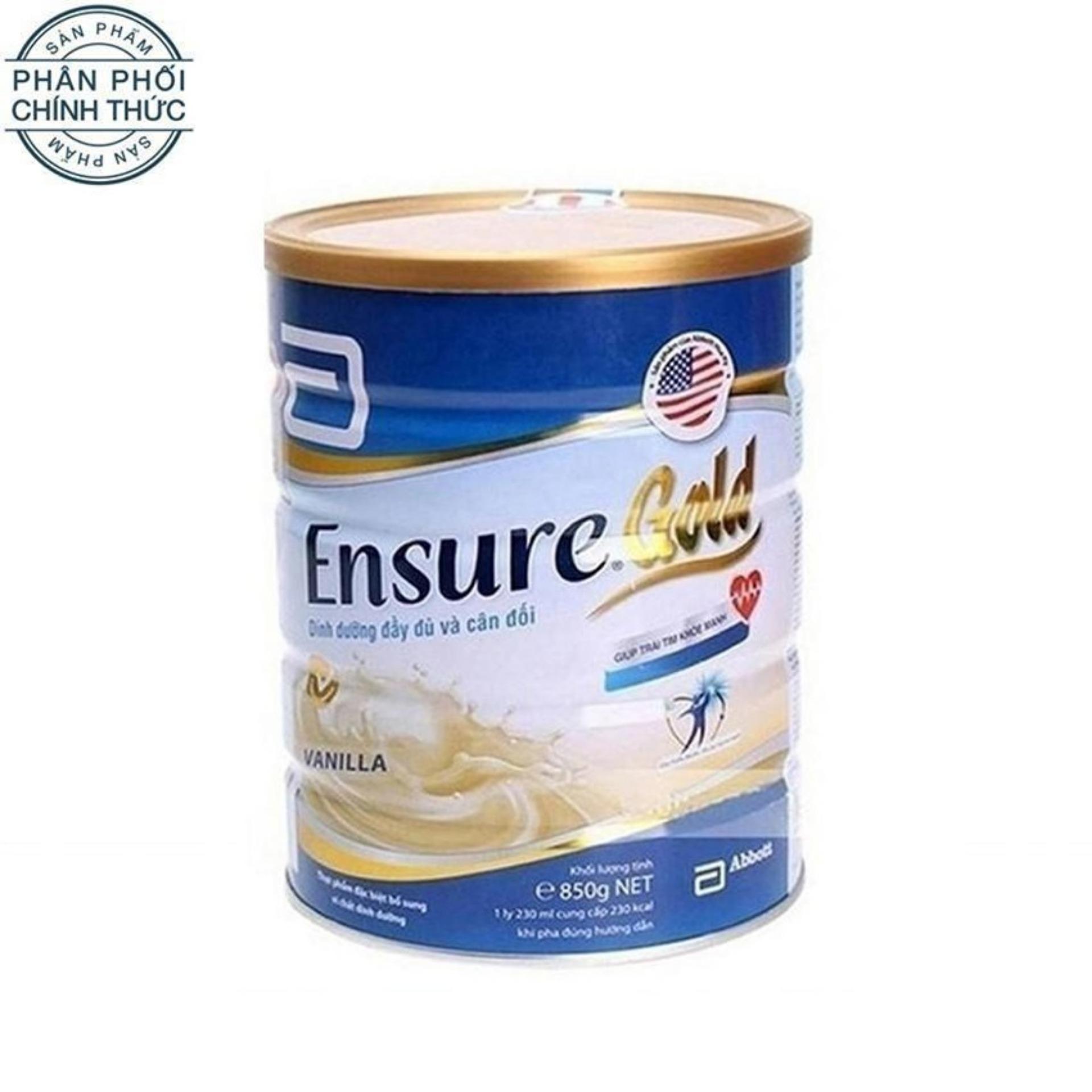 Hình ảnh Lon sữa bột Ensure Gold Hương Vani 850g.