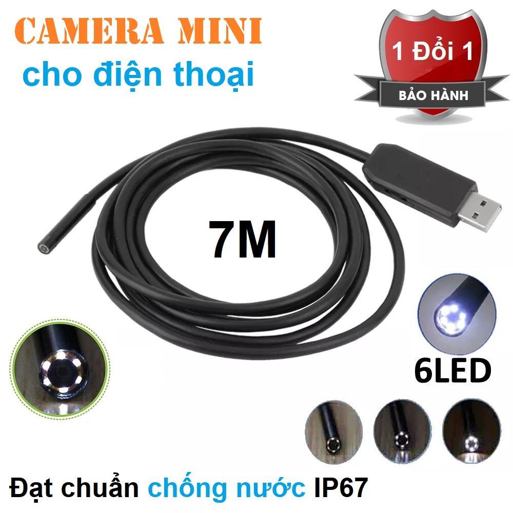 Hình ảnh Camera mini cho điện thoại và máy tính chống nước dây dài 7m