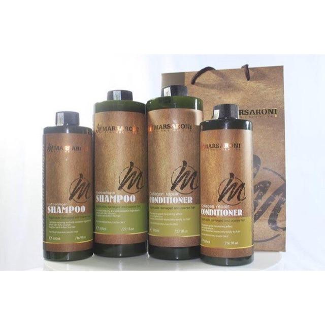 Hình ảnh Cặp dầu gội xả Marsaroni Canada 800ml (2 chai)
