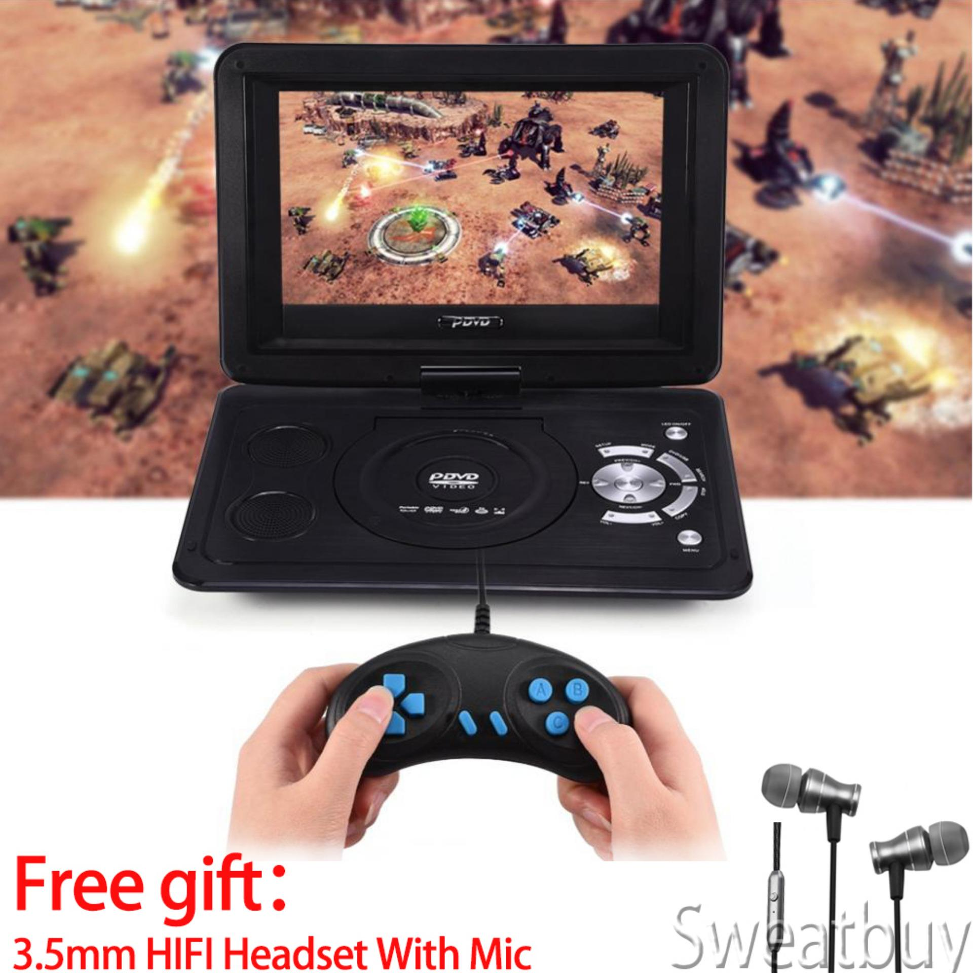 Hình ảnh [Buy 1 Get 1 Free Gift] 13.9inch HD TV Portable DVD Player 800*480 Resolution 16:9 LCD Screen 110-240V US Plug - intl