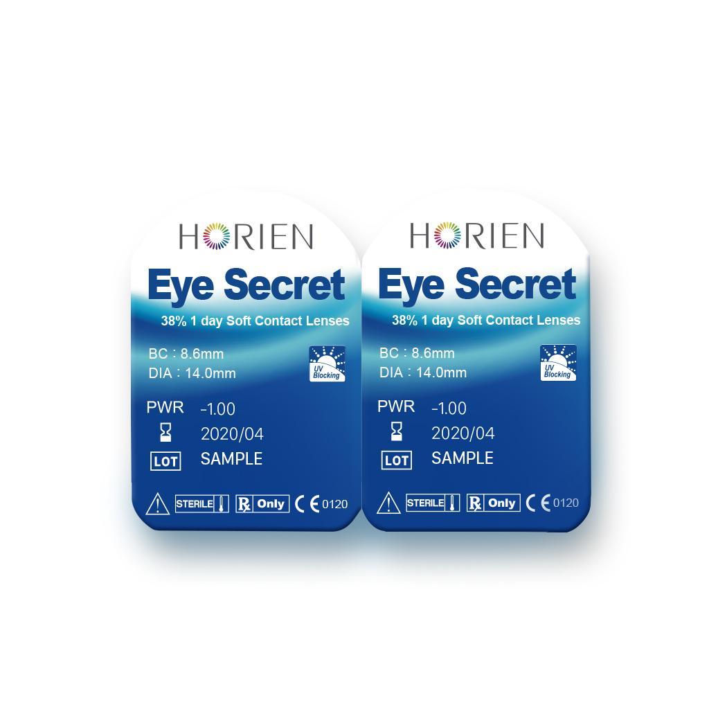 Hình ảnh (Hàng mẫu-Sample) Combo 3 cặp kính áp tròng không màu dùng 1 ngày Eye Secret (Cận 1-8 độ)