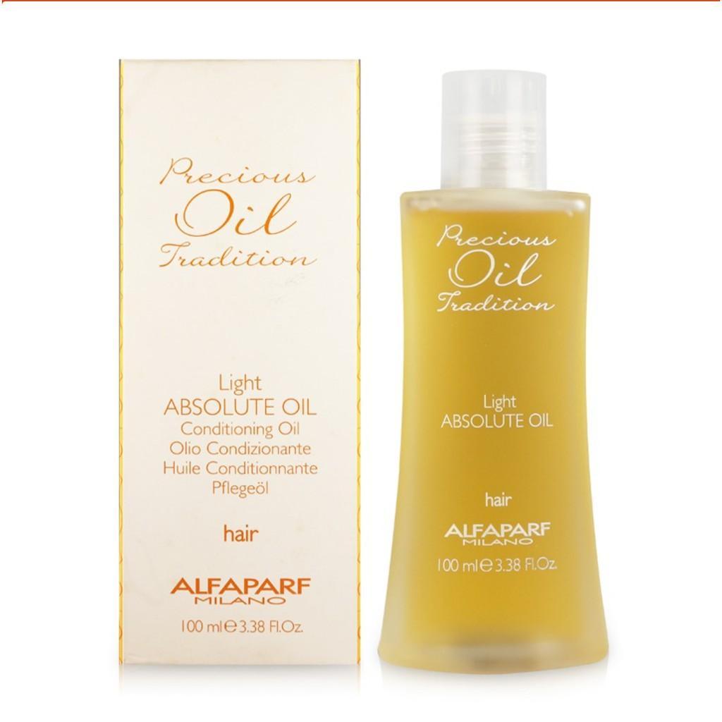 Hình ảnh Tinh dầu dưỡng dành cho tóc mảnh Alfaparf Milano Precious Oil Tradition Light Absolute Oil 100ml