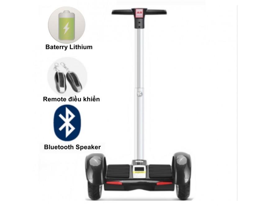 Xe điện cân bằng thông minh TeenPro có đèn LED + Bluetooth + Remote điều khiển