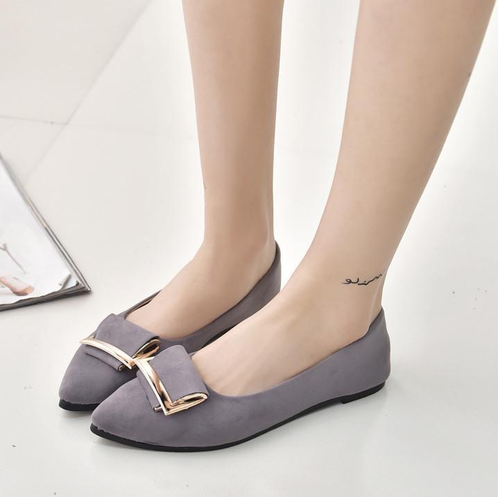 Membantu Rendah Sepatu Dangkal Sepatu Tajam Kecil Akhir Rendah Sepatu dengan Hak Bahkan dan Sepatu Wanita Anak Daftar sepatu Kaki Manis Deng Menikmati Sepatu Santai Sepatu Tide untuk Musim Gugur-Intl