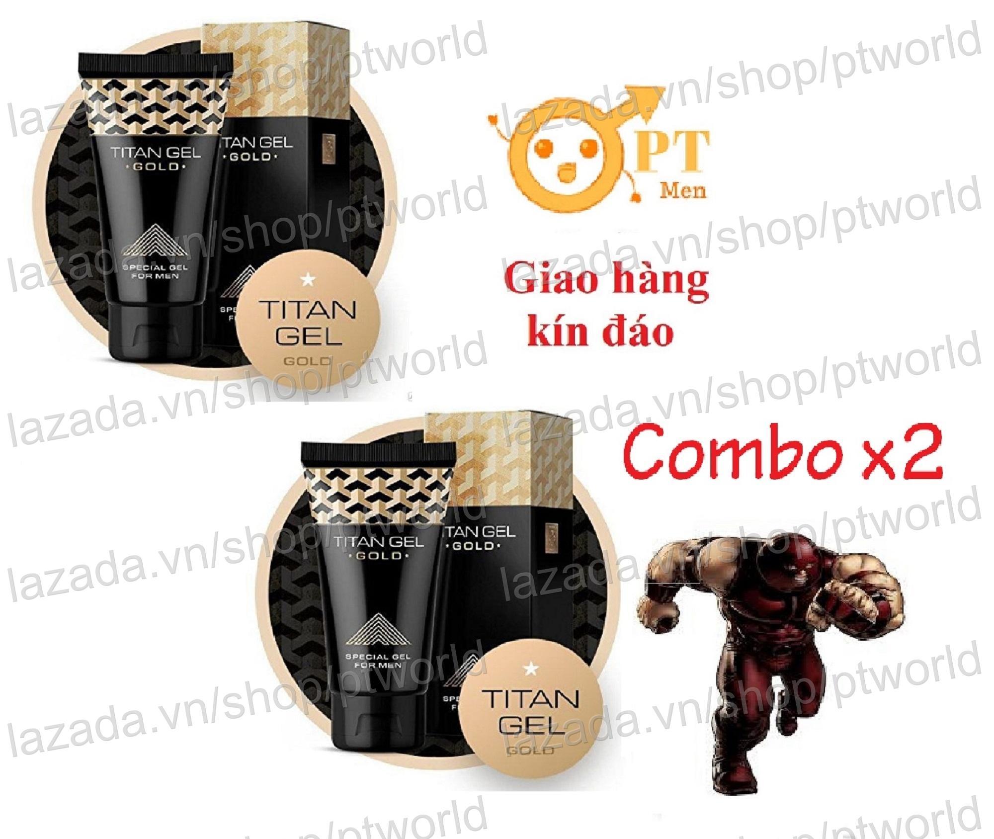 Giá Bán Bọ 2 Chai Titan Gel Gold Phien Bản Đặc Biẹt Premium Tăng Kích Thước Dương Vật Và Chóng Xuát Tinh Sớm Nguyên