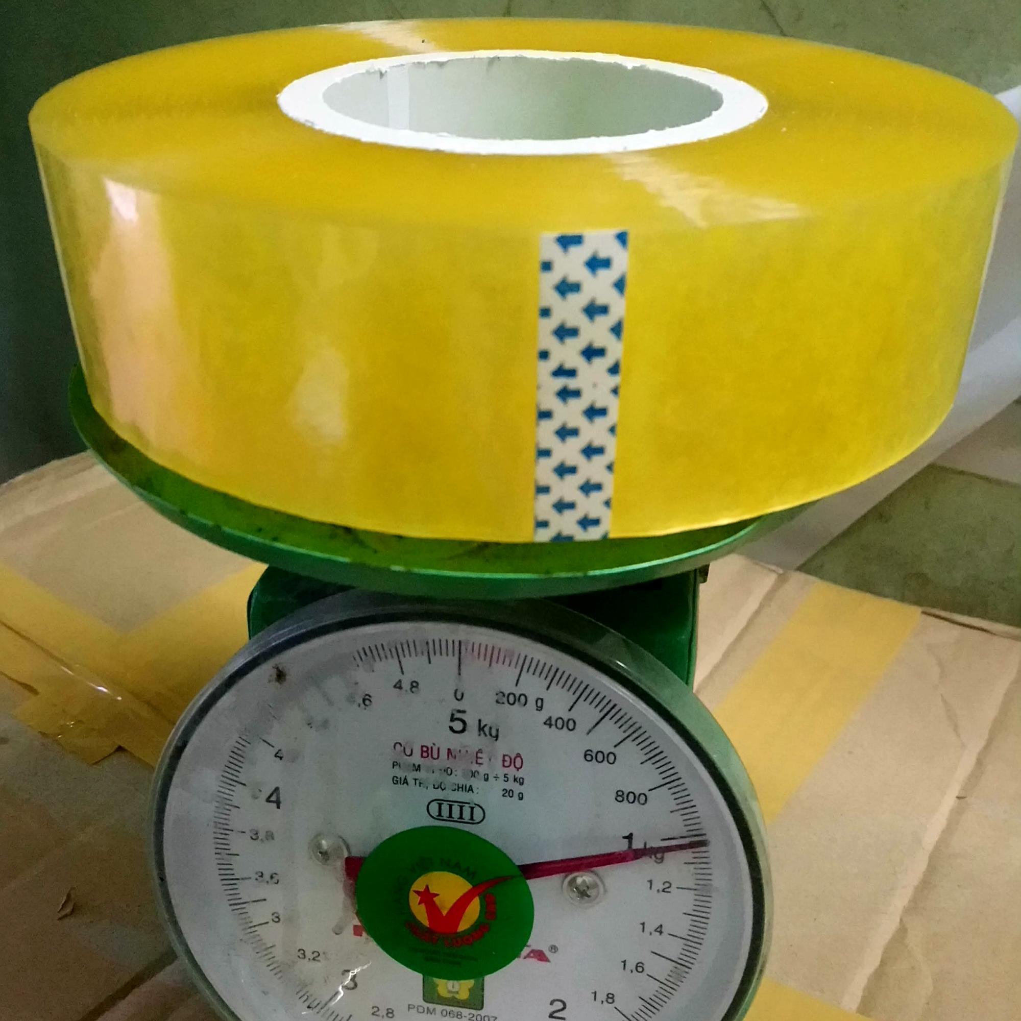 Combo 3 cuộn băng dính dán thùng 1kg 1 cuộn HV