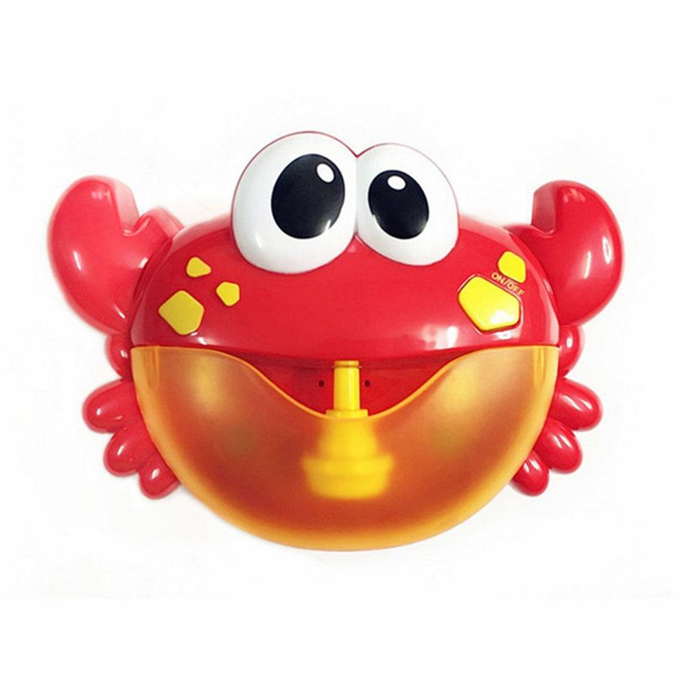 Kids Pool Swimming Bathtub Soap Machine Crabs Shape Music Automatic Bubble Maker Baby Bath Toy