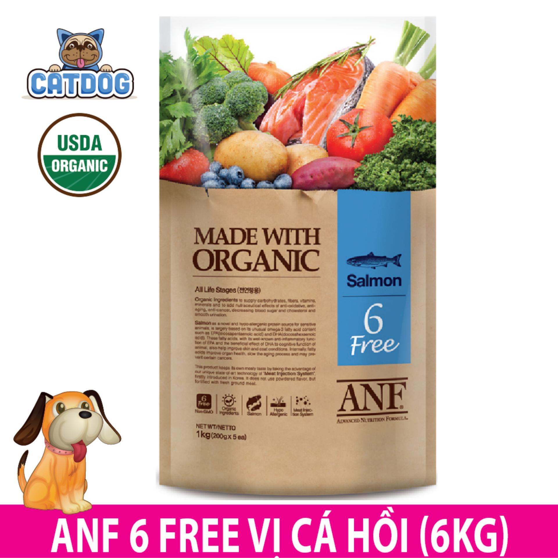 Bán Hạt Anf 6 Free Organic Vị Ca Hồi 6Kg Cho Anf Nguyên