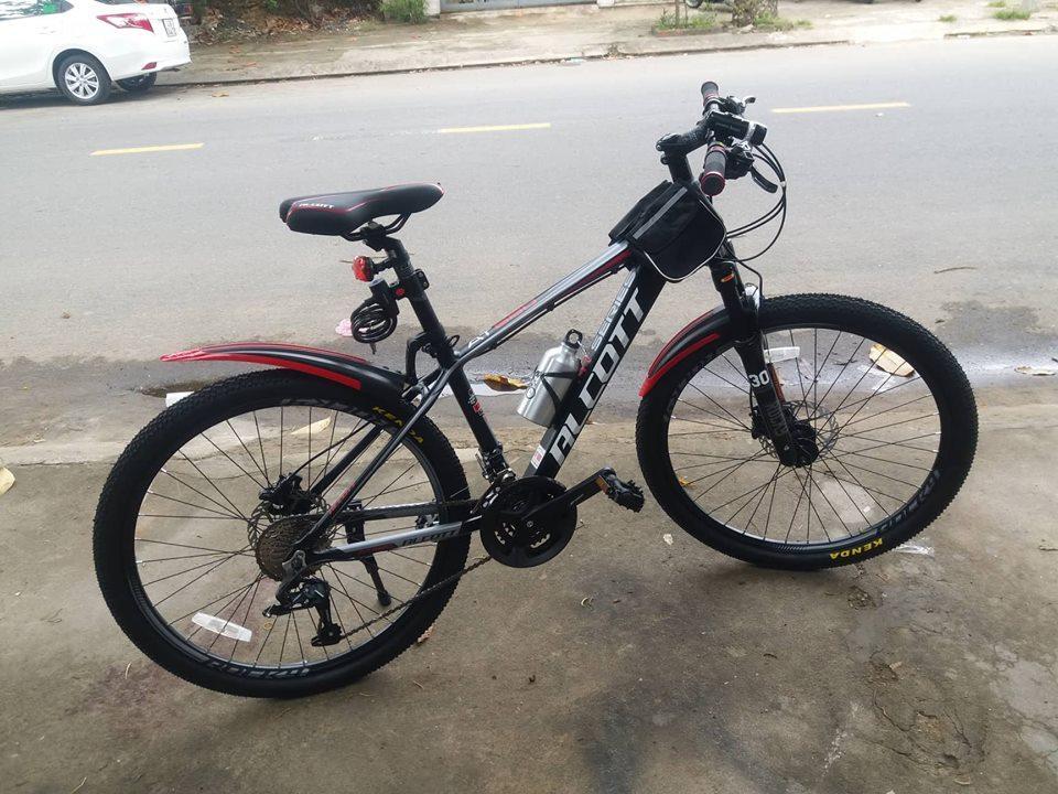 Xe đạp địa hình Alcott 680-XC màu đỏ đen