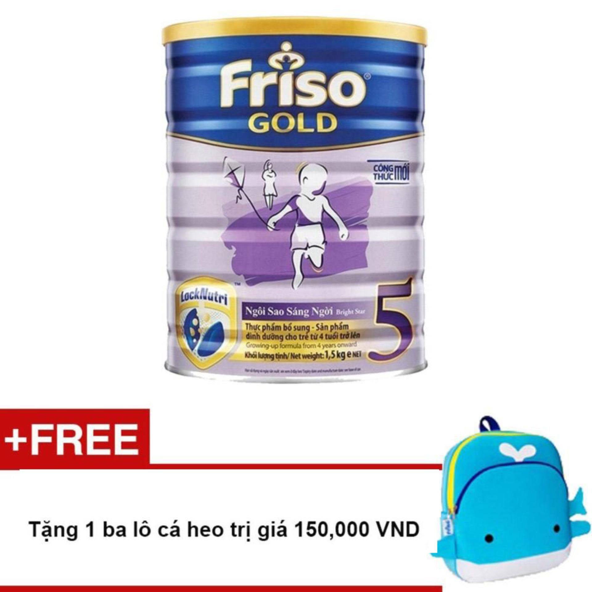 Mã Khuyến Mại Sữa Bột Friso Gold 5 1500G Tặng 1 Ba Lo Ca Heo Trị Gia 150 000 Vnd