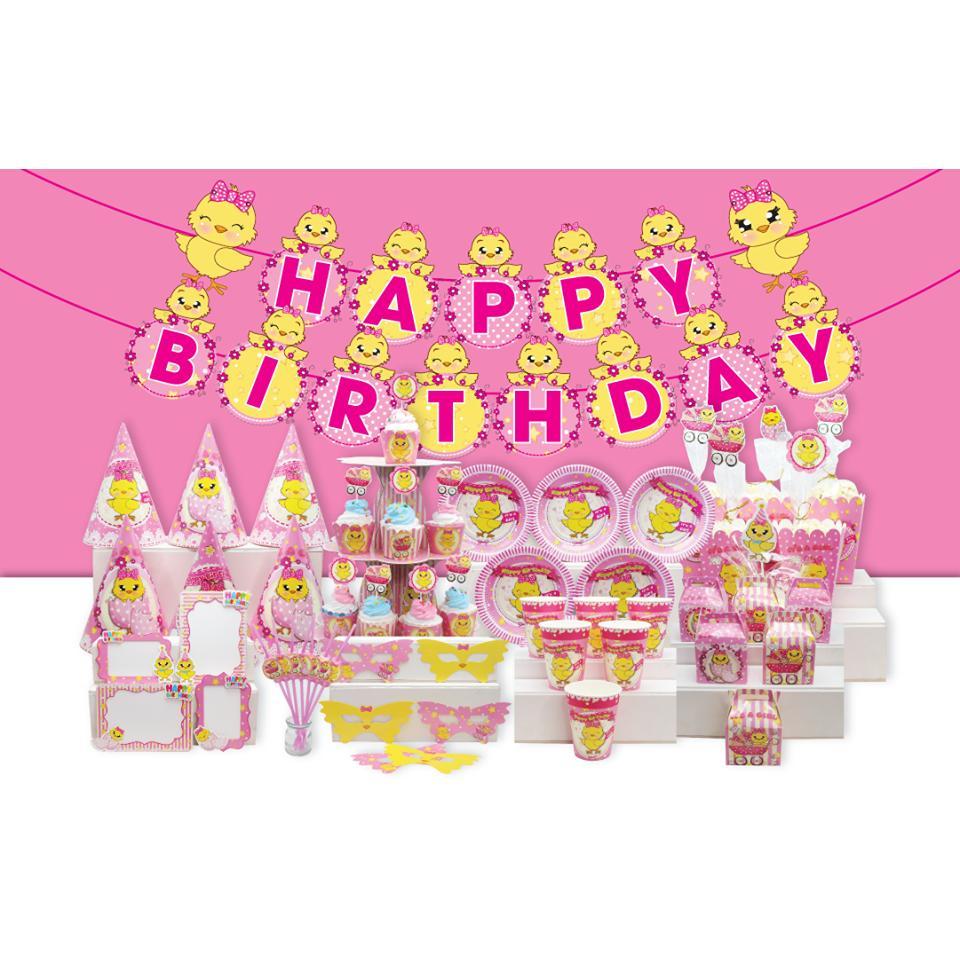 Hình ảnh Set trang trí sinh nhật gà con