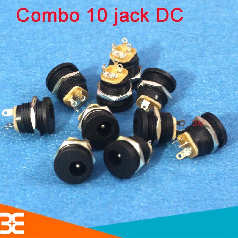 Bộ 10 Jack DC 5.5x2.1mm - Có Ốc Vặn