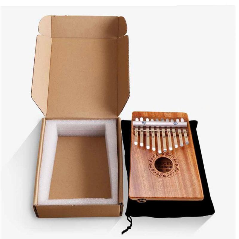 Đàn Kalimba Gecko 10 phím gỗ mahogany kèm bao đàn và sách hướng dẫn