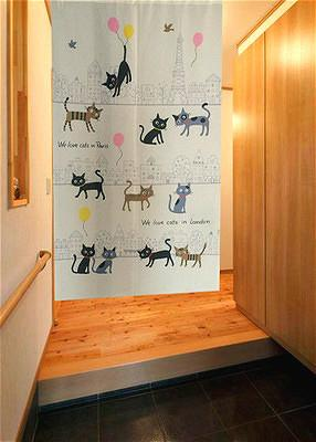 Finished Product Door Curtain Export Japan Product Japanese Style Colored Cloth Yi Feng Bath Curtain Decoration-Japanese Style Thin Series 1