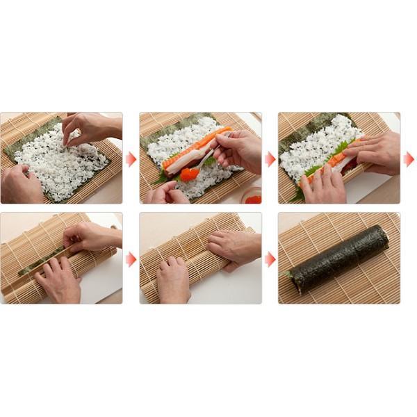 Hình ảnh mành tre làm kimbap, sushi, cơm cuộn