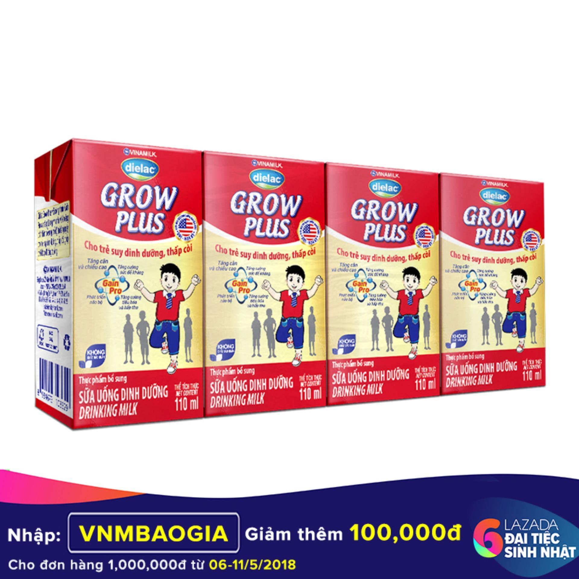 Giá Bán Thung 48 Hộp Sữa Bột Pha Sẵn Vinamilk Dielac Grow Plus 110Ml Mới Nhất