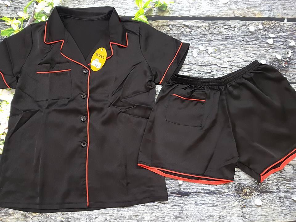 Bán Pijama Nữ Ngắn Lụa Satin Cao Cấp Size 45 55Kg Oem Nguyên