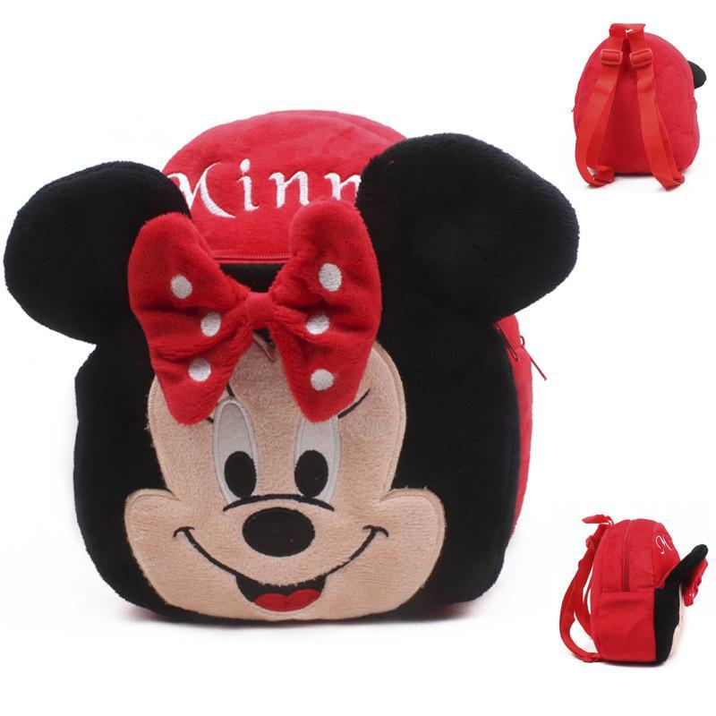 Giá bán Balo vải cho bé hình chú chuột mickey minnie màu đỏ