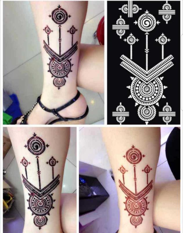 1 Miếng khuôn vẽ henna size 9×18cm cao cấp