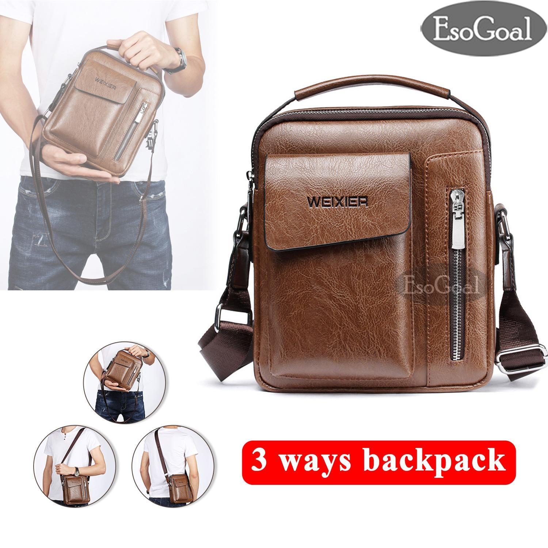 69d3b2da08 EsoGoal Men Messenger Bag PU Leather Sling Shoulder Crossbody Men Bag  Handbag Men Casual Business Fashion