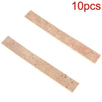 10pcs/lot Natural Clarinet Neck Cork Sheet 81 x 11 x 2mm - intl