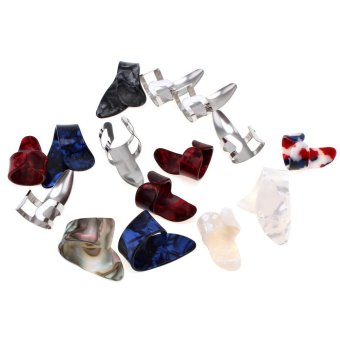 15pcs/set Stretchy Celluloid & Steel Nail Plectrums GuitarThumb Finger Picks for Guitar Lovers ...