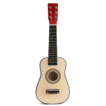 "23"" Red Wooden Beginners Practice Acoustic Guitar w/ 6 String For Children Kids - intl"