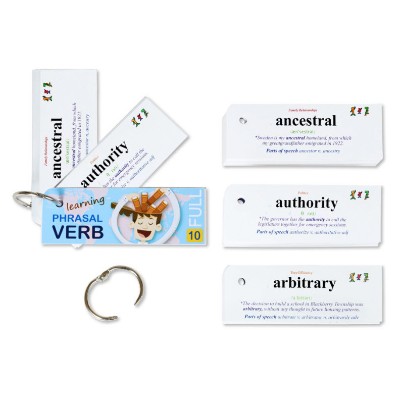 Mua 268 Flashcard phrasal verbs quan trọng chất lượng cao (10C)