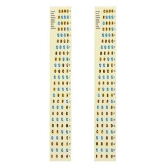 2Pcs Fretboard Fingerboard Note Label Fret Stickers for Guitar BassYellow - intl