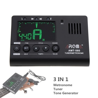 3 in 1 Guitar Metronome Tuner Tone Generator LED Screen Built-inMic with Pickup Function for Chromatic / Guitar / Bass / Violin /Ukulele - intl