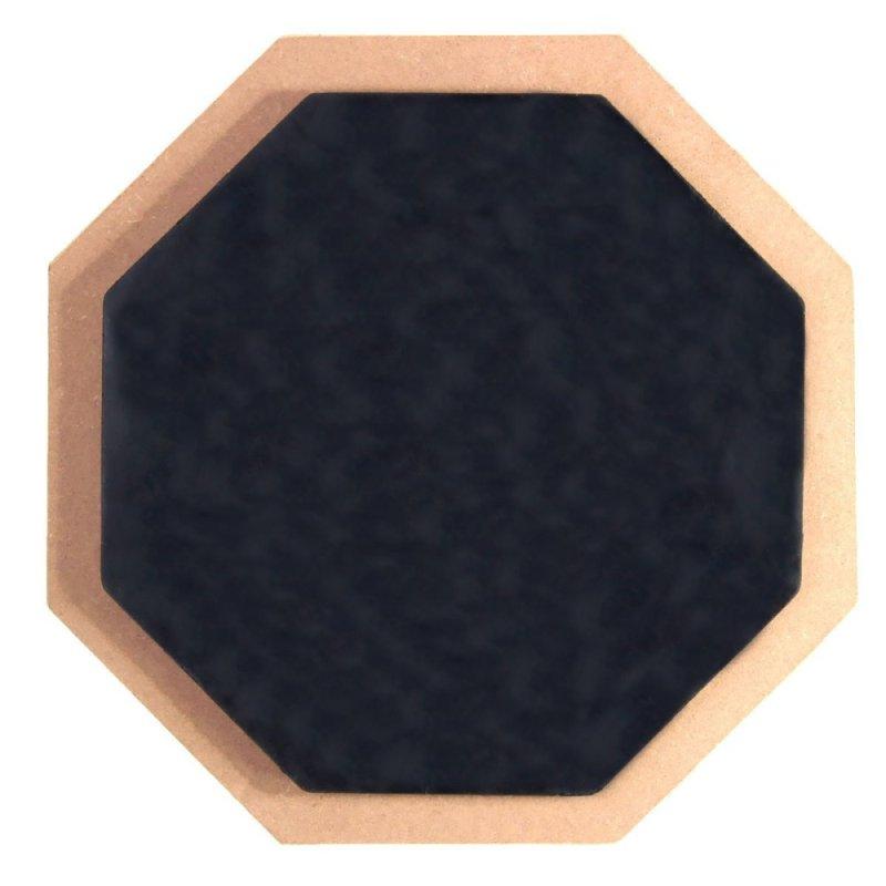 6 Soft Black Dumb Drum Pad Exercise Mat Blow Plate Drummer Rubber Double Side - Intl