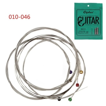 6pcs/Set Electric 010-046 Nickel Plated Steel Guitar Strings GreatBright Tone - intl