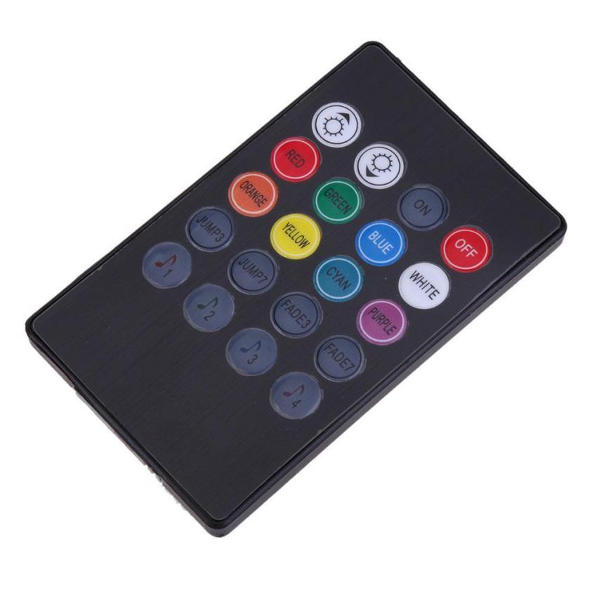 7 color rgb led neon strip light music remote control for gi 188 000. Black Bedroom Furniture Sets. Home Design Ideas
