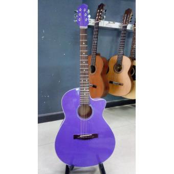 Acoustic guitar DVE85 màu tím nhạt + Tặng kèm phụ kiện