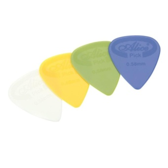 Alice Ap-G 20Pcs 0.58Mm Projecting Nylon Guitar Picks Plectrums - intl