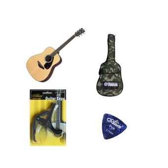 Bộ 1 guitar acoustic Yamaha F370 (Vàng gỗ) + 1 Bao guitar Yamaha Camo + 1 Capo guitar Alice A007D/BK + 1 Phím gãy guitar