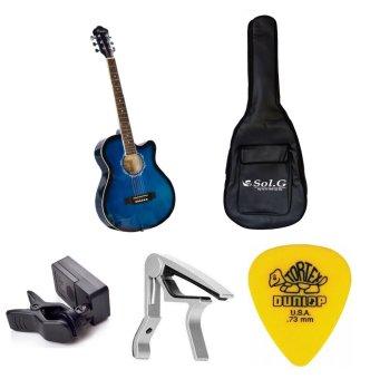 Bộ Đàn Guitar Acoustic Vines VA3910BLS + Bao đàn Guitar 03 lớpSOL.G + Capo PBA05SL + Máy lên dây PD-JT30 và Móng gảy Dunlop 4180