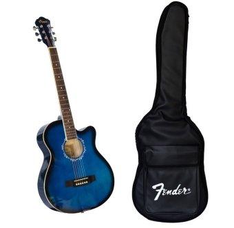 Bộ đàn Guitar Acoustic Vines VA3910BLS Xanh dương + Bao đàn Guitar 03 lớp SOL.G