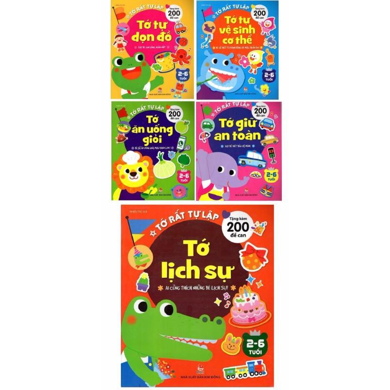 Mua Bộ sách Tớ rất tự lập (Trọn bộ 5 cuốn) Tặng 1.000 Decal màu-NXB Kim Đồng-Tủ sách thiếu nhi