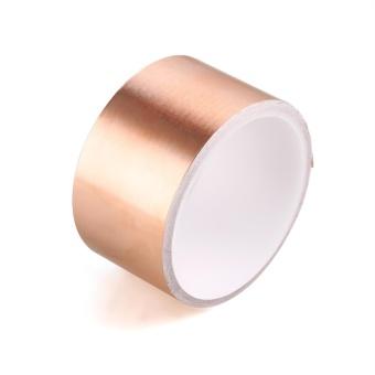 Cyber 1 Roll Copper Foil Tape EMI Shielding for Electric RepairBass Guitar 5cm Dia ( Gold ) - intl