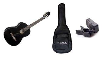 Đàn Guitar Yamaha C40BL (Đen) + Bao đàn Guitar Sol.G 03 lớp + Máylên dây JT10