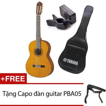 Đàn Guitar Yamaha C80 + Bao đàn Guitar Yamaha 03 lớp + Máy lên dâyJT10 + Tặng Capo đàn guitar PBA05