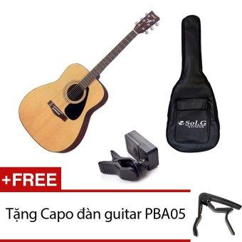 Đàn guitar Yamaha F310 + Bao đàn guitar 03 lớp Sol.G + Máy lên dây JT10 + Tặng Capo đàn guitar PBA05