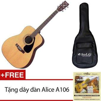Đàn guitar Yamaha F310 + bao đàn guitar 03 lớp Sol.G + Tặng dây đàn Alice A406