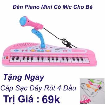 Đàn Piano Mini Có Míc Cho Bé Chất Lượng Âm Thanh Hay Loại Mới 2017 + Cáp Sạc Dây Rút 4 Đầu Trị Giá 69k - 8557190 , OE680MEAA6Y65OVNAMZ-12754279 , 224_OE680MEAA6Y65OVNAMZ-12754279 , 200000 , Dan-Piano-Mini-Co-Mic-Cho-Be-Chat-Luong-Am-Thanh-Hay-Loai-Moi-2017-Cap-Sac-Day-Rut-4-Dau-Tri-Gia-69k-224_OE680MEAA6Y65OVNAMZ-12754279 , lazada.vn , Đàn Piano Mini Có