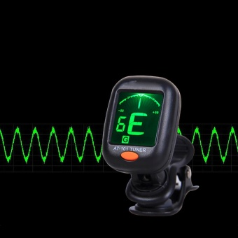 Digital Chromatic LCD Clip-On Electric Tuner for Bass, Guitar, Ukulele, Violin - intl